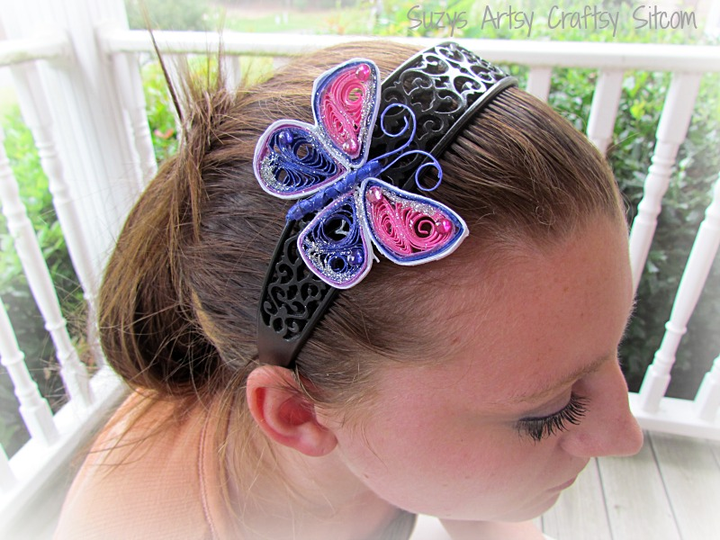 Paper crafts quilled butterfly headband tutorial for Quilling paper craft