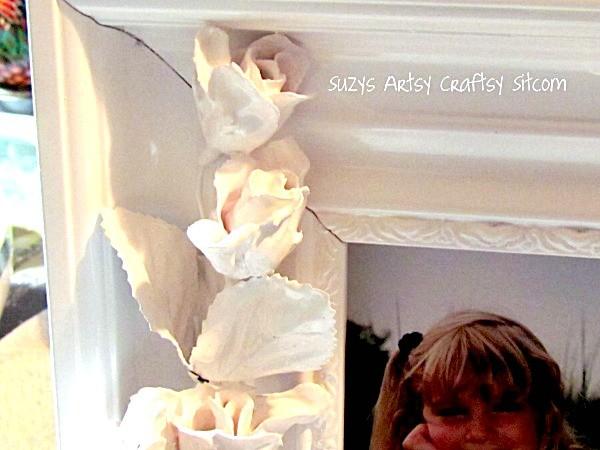 diy faux porcelain flower frame
