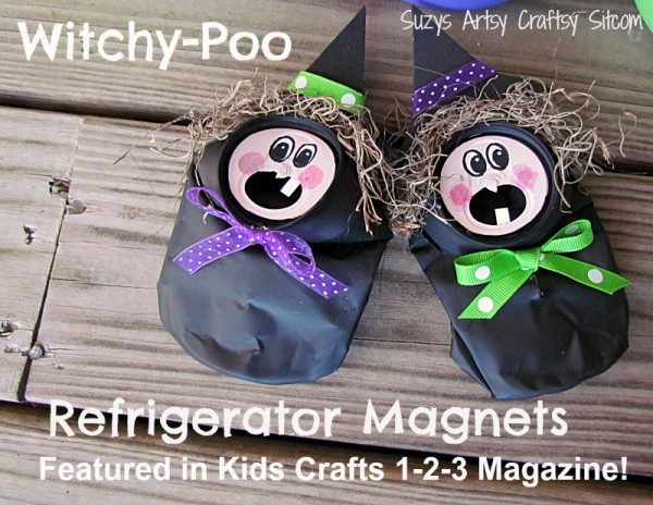 witchy poo refrigerator magnet craft halloween diy