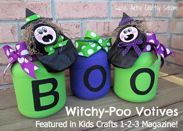 Witchy poo votives craft halloween