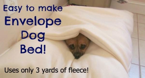 envelope dog bed pattern
