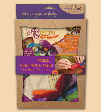 artterro paint with wool craft kit