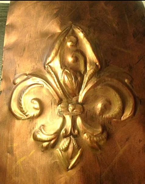 embossed fleur de lis from disposable cookie sheet