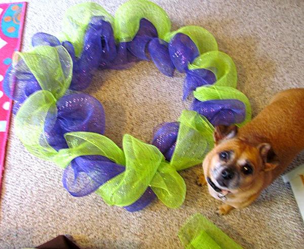 halloween wreath recycled diy melvin the mummy