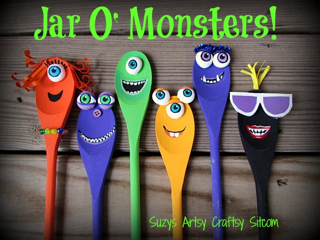 cute jar o monsters halloween diy