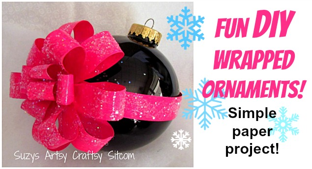 easy wrapped ornaments