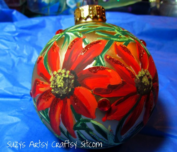 floral handpainted ornament