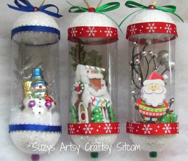 snow globe vintage ornaments diy