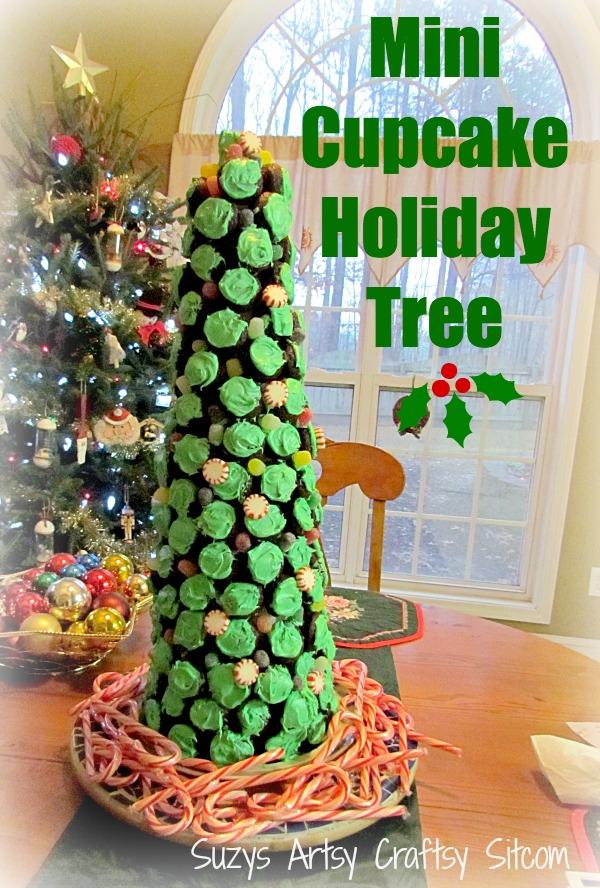 diy cupcake holiday christmas tree