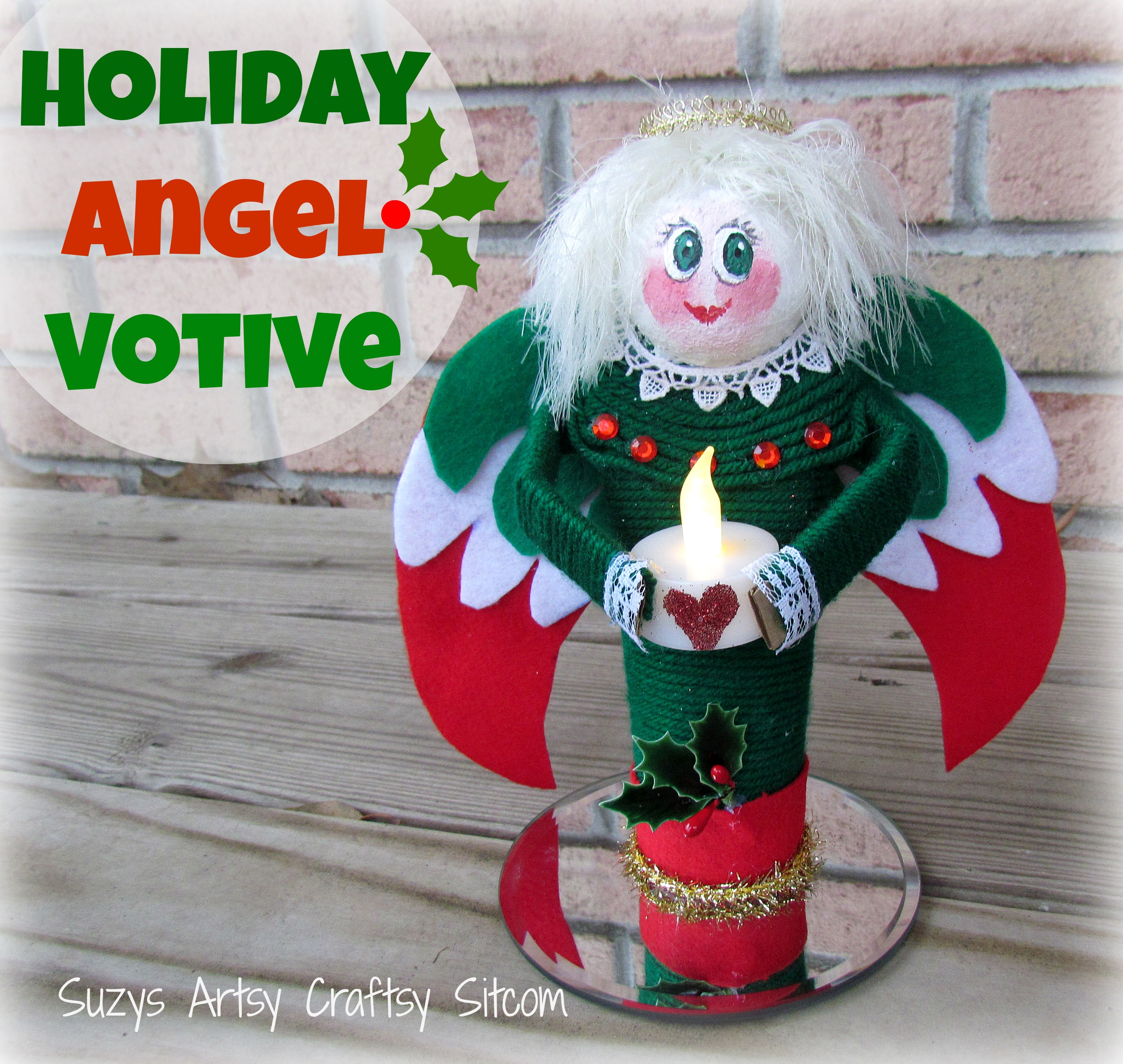 Cute santa claus towel christmas decor - Cute Diy Angel Votives Made From Recycled Paper Towel Tubes
