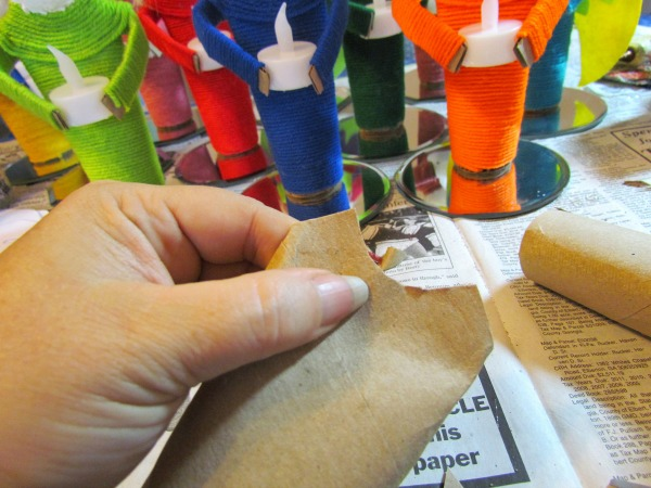 cute diy angel votives made from recycled paper towel tubes