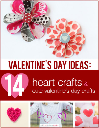 14 valentines crafts free ebook