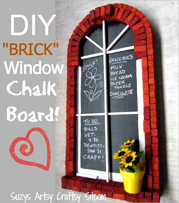 Diy Brick Window Chalk Board