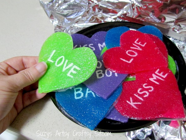valentine conversation heart soaps