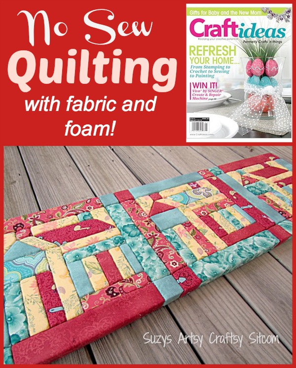 No sew quilting with fabric and foam for Craft patterns to sew