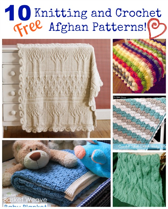 10 Free Knitting and Crochet Afghan Patterns!
