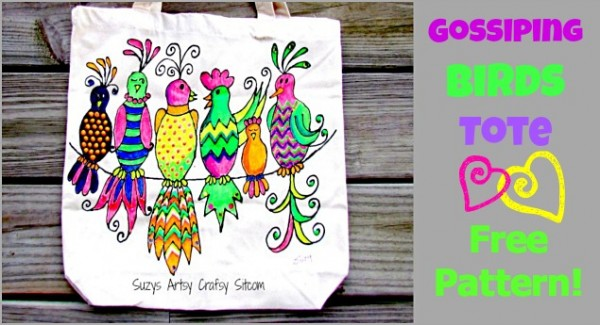 gossiping birds tote free pattern