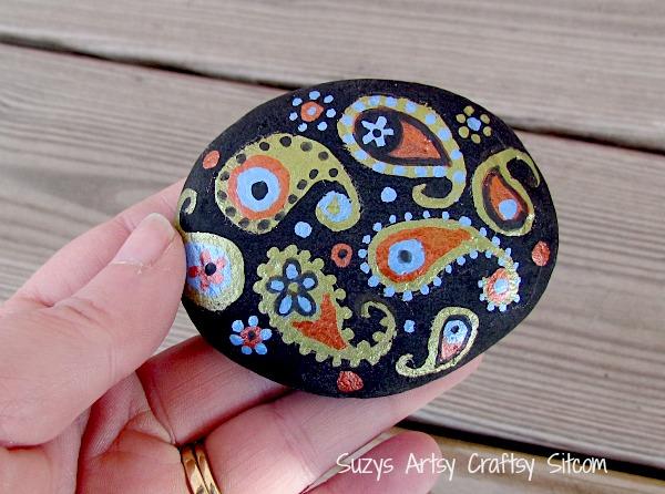 paisley painted stones diy