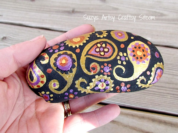 paisley painted stones diy