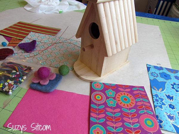 mixed media birdhouse artterro crafts