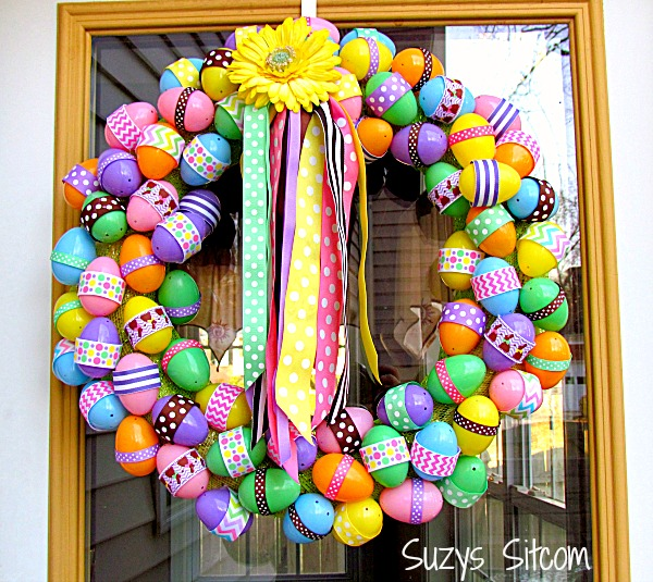 diy easter egg ribbon wreath