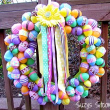 diy easter egg ribbon wreath