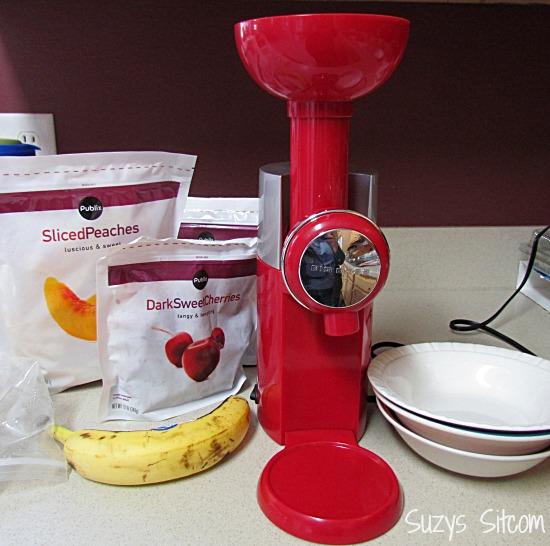 swirlio frozen fruit dessert maker