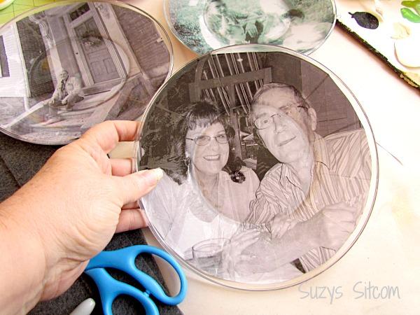 diy photo plate wall art