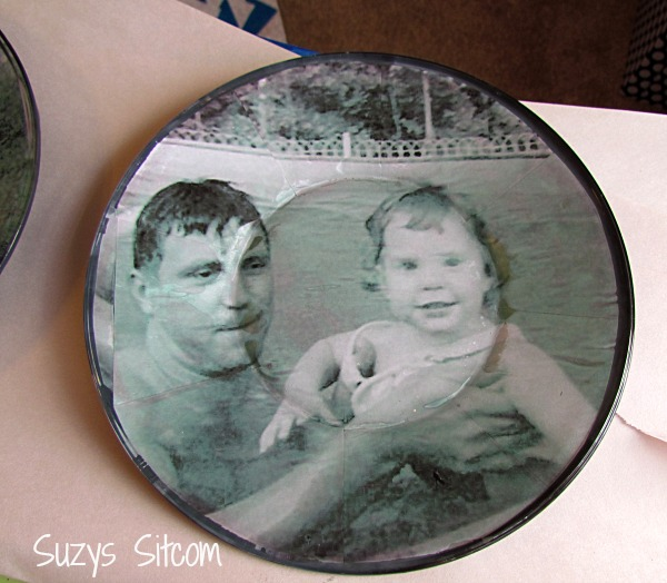 diy photo plate wall art