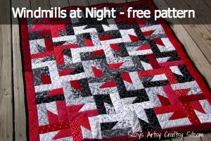 windmills at night quilt