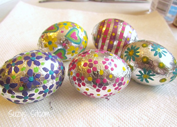 foil covered easter eggs
