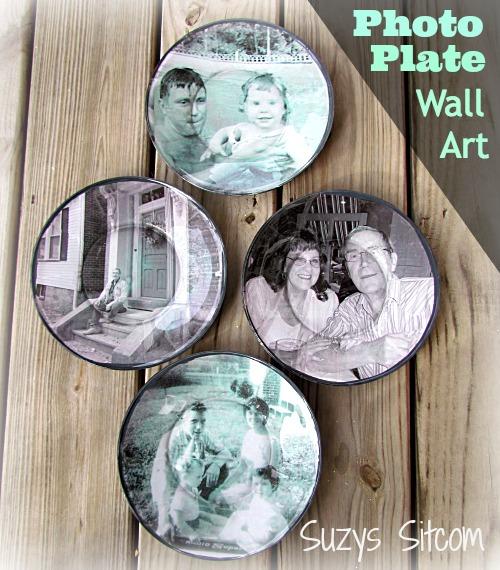 Clear Glass Wall Decor : Decoupage photograph plates cool wall decor