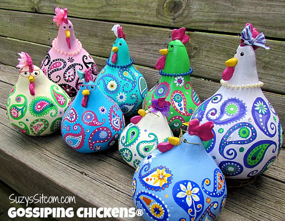 gossiping paisley chickens