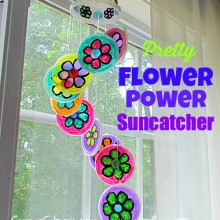 recycled craft plastic lid sun catcher13