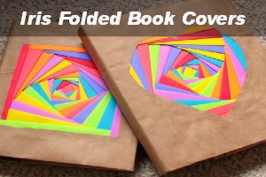 Creating Colorful book covers with Astrobrights Papers!