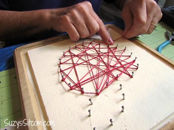 string art apple