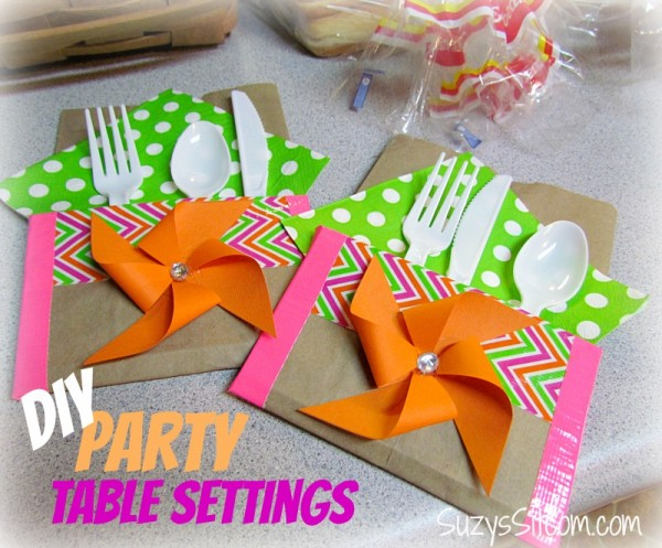 diy party table settings