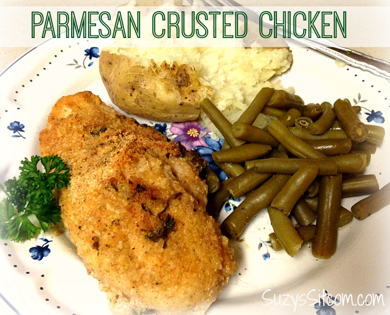 Parmesan Crusted Chicken With Wine Recipe