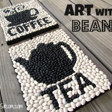 creating art with beans