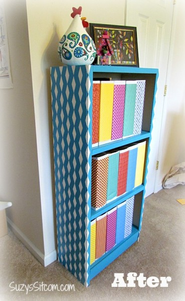 shelf remodel after photo