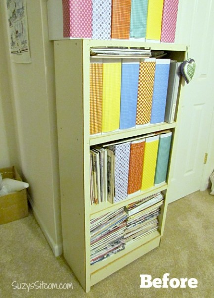 shelf revamp with shaped frog tape