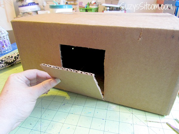 Used Wedding Gift Card Box : ... the box. This little door will be used to retrieve the wedding cards