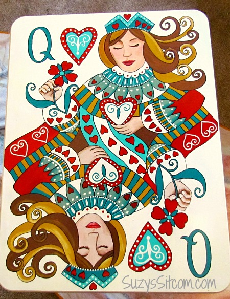 Queen of Hearts pattern - decorative painting