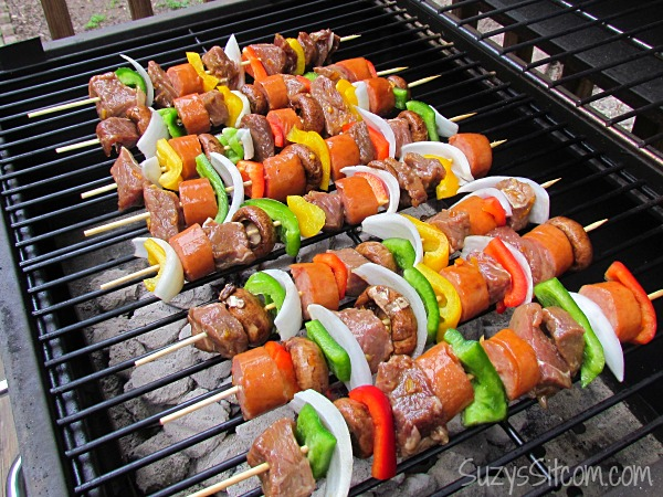 Teriyaki Orange Beef Kebabs and Wet Naps