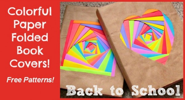 colorful diy book covers back to school