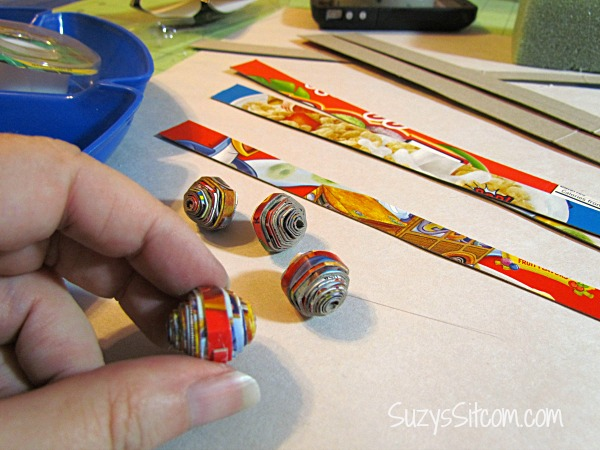 diy cereal box beads kelloggs