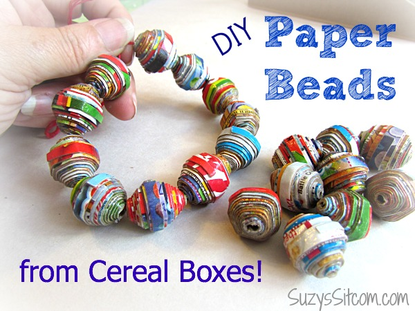 diy cereal box beads kelloggs