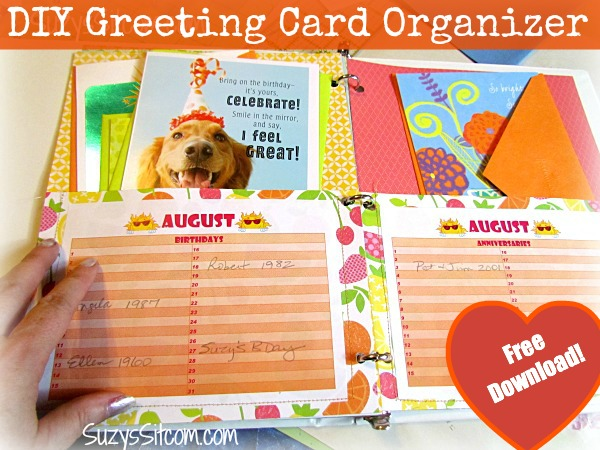 Create your own Greeting Card Organizer- free download!