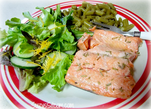 grilled salmon and rosemary slim fast diet