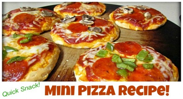 quick and easy mini pizza recipe after school snack